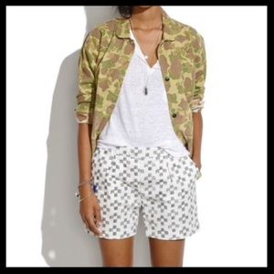 Madewell Deck Shorts in Crosshatch